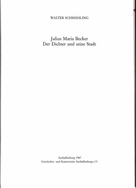 Schmähling, Julius Maria Becker